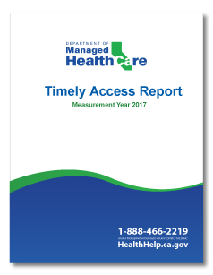 MY 2017 Timely Access Report