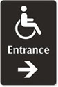 Wheelchair entrance sign